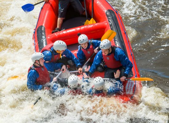 White Water Rafting at Tees Barrage
