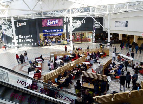 Middleton Grange Shopping Centre Hartlepool. February 2018